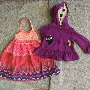 🆕 2pc, 12-24m Purple Kitty set  💜